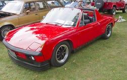 Porsche 914 Red 1974 Arkivfoton