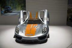 Porsche 918 RSR que compite con el híbrido del laboratorio Fotografía de archivo libre de regalías