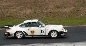 Porsche 930 Turbo racing car at speed Royalty Free Stock Images