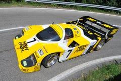 Porsche 956 -1983 - Vernasca silberne Markierungsfahne 2011 Stockfotografie