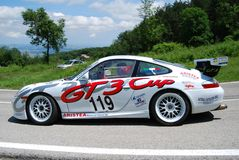 Porsche 996 GT3 Cup. International competition of hill-climb for modern cars Royalty Free Stock Photos