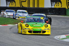 Porsche 997 GT3 in Monza race track Royalty Free Stock Image