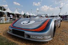 Porsche 908-3 auf einer Ausstellung, die 70 Jahre von Porsche feiert Lizenzfreies Stockbild