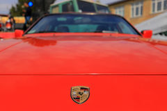 Porsche badge Stock Photo