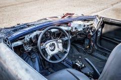 Porsche bauen in Stromkreisde Barcelona, Katalonien, Spanien auseinander lizenzfreies stockbild