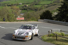 A Porsche in the bend Stock Images