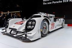Porsche 919 bij 2014 Genève Motorshow Royalty-vrije Stock Foto's