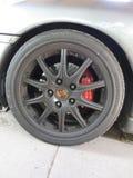 Porsche Boxer S. Borsche Boxer S car tires stock image