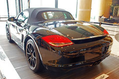Porsche boxster black edition rear Royalty Free Stock Photography