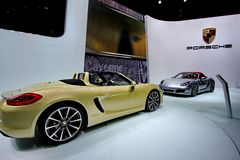A Porsche boxster car Royalty Free Stock Photo