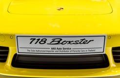 Porsche 718 Boxster car at Thailand International Motor Expo 2016. royalty free stock photos