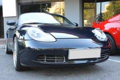 Porsche Boxster-de auto bij de auto toont Royalty-vrije Stock Foto
