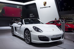 Porsche boxster. Guangzhou Auto Show 2014, in November, Pazhou Complex, Guangzhou city, Canton Province, China Royalty Free Stock Photography