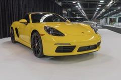 Porsche 718 Boxster op vertoning Stock Foto's