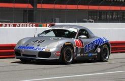 Porsche Boxster racing Royalty Free Stock Photography