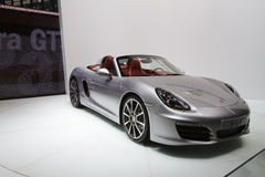 Porsche Boxster S - Geneva Motor Show 2012. The new version of Porsche's roadster, looking more than ever similar to the iconic 911. Taken at the Geneva Motor Stock Image