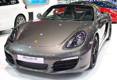 Porsche Boxster S samochód na pokazie. Obrazy Stock
