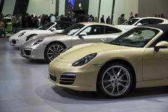 Porsche Boxsters Royalty Free Stock Photo