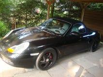Porsche Boxter S. Cabrio. View of the car. View of the car. Porsche Boxter S. Cabrio. Beautiful car stock photos