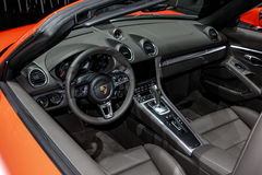 A Porsche 718 Boxter S at the 2016 New York International Auto Show Royalty Free Stock Images