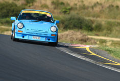 Porsche 911 C32 Race Car. A Porsche 911 C32 racing car on race track at Hampton Downs raceway at the Festival of Porsche in Motor Racing event January 2016 Royalty Free Stock Image