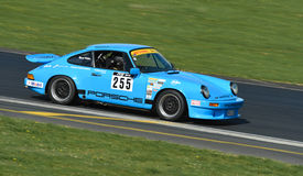 Porsche 911 C32 Race Car. A 1984 Porsche 911 C32 racing car on race track at Hampton Downs raceway at the Festival of Porsche in Motor Racing event January 2016 Royalty Free Stock Photo