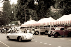 Porsche 356 Cabriolet at Bergamo Historic Grand Prix 2015 Royalty Free Stock Photo