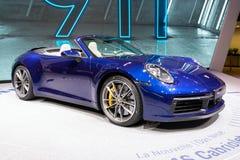 Porsche 911 Cabriolet van Carrera S Sportwagen royalty-vrije stock afbeeldingen