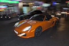 Porsche car in Ho Chi Minh city Stock Image