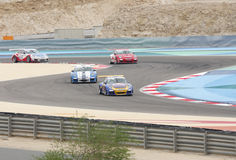 Porsche car racing during Porsche GT3 Cup Challeng royalty free stock photography