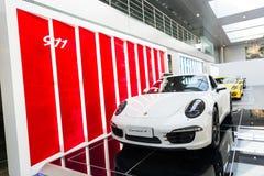 Porsche car for sale. Sport car at car dealership showroom,porsche Stock Images