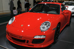Porsche Carrera 4S. At the Moscow International Automobile Salon (MIAS-2010) August 25 - September 5 Stock Images