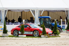 Porsche Carrera on the arena Royalty Free Stock Images
