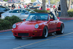 Porsche Carrera car on display royalty free stock photo