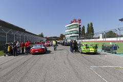 Porsche Carrera Cup Italia car racing Stock Images