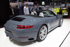 Porsche 911 Carrera. FRANKFURT, GERMANY - SEP 16, 2015: Porsche 911 Carrera at the IAA 2015 Royalty Free Stock Images
