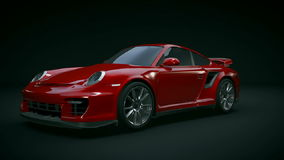 Porsche Carrera GT2 RS 3d animation stock footage