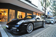 Porsche Carrera GTS parked Royalty Free Stock Photos