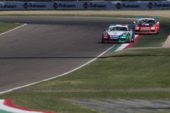 Porsche Carrera-het autorennen van Kopitalië Royalty-vrije Stock Foto's