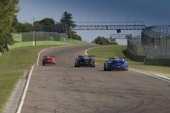 Porsche Carrera-het autorennen van Kopitalië Royalty-vrije Stock Foto