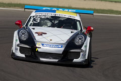 Porsche Carrera-het autorennen van Kopitalië Stock Foto's
