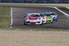 Porsche Carrera-het autorennen van Kopitalië Stock Foto