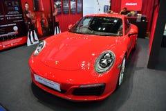 Porsche 911 Carrera i Bangkok den internationella Thailand motoriska showen Arkivbilder
