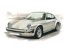 Porsche 911 Carrera. Illustration of a Porsche 911 Carrera Stock Photo