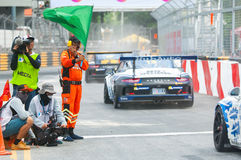 Porsche Carrera-Kop Azië, Klap Saen 2017 Royalty-vrije Stock Foto's
