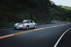 Porsche 911 964 Carrera 2 on Mountain Road Stock Photography