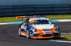 Porsche 911 Carrera-raceauto van Michael Patrizi Stock Afbeelding