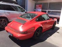 Porsche Carrera Red rocket stock image