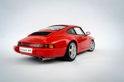 Porsche 911 Carrera RS 1:18AutoArt modell Arkivfoton