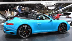 Porsche 911 Carrera 4S Cabriolet convertible sports car stock video